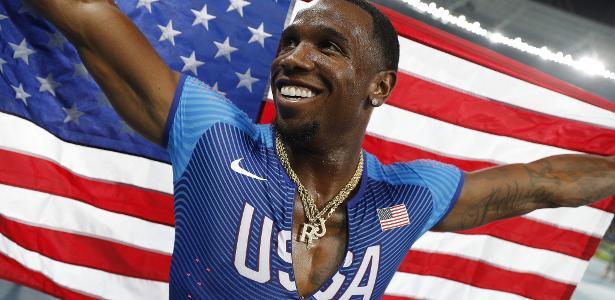 Gil Roberts levou o ouro no revezamento 4x400m no Rio - Adrian Dennis/AFP Photo