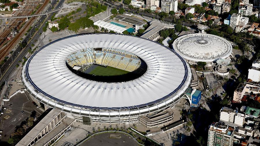Vista aérea do Maracanã, templo do futebol, que ficaria cheio caso todos os procurados pela Justiça em São Paulo nele entrassem de uma vez só - Matthew Stockman/Getty Images