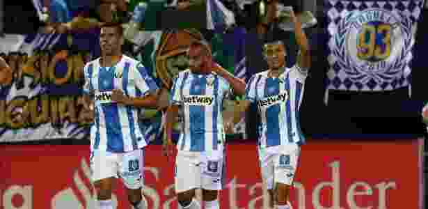 Óscar Rodríguez comemora após marcar pelo Leganés contra o Barcelona - Sergio Perez/Reuters - Sergio Perez/Reuters