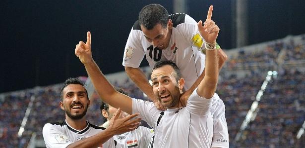 Meram comemora gol do Iraque contra a Tailândia em jogo das eliminatórias da Copa de 2018 - Thananuwat Srirasant/Getty Images