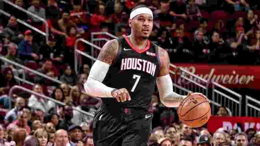 Carmelo Anthony está sem time desde janeiro de 2019  - Divulgação/Houston Rockets