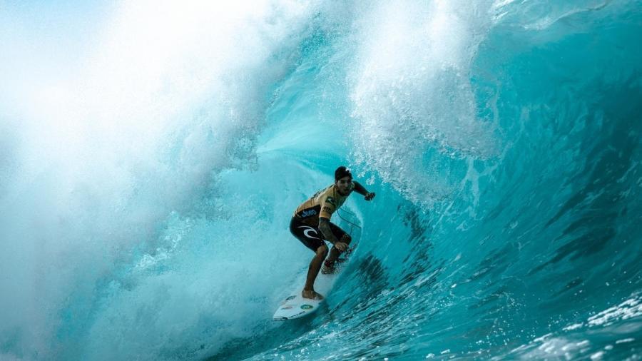 Gabriel Medina, durante etapa de Pipeline do Circuito Mundial de Surfe - WSL / ED SLOANE