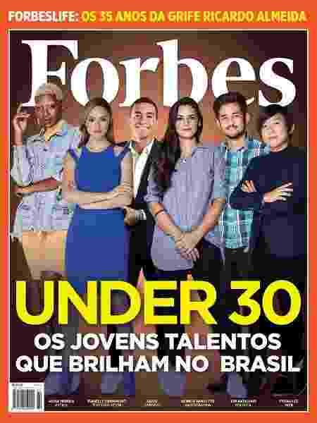 Capa da Forbes com o jogador Dudu, do Palmeiras, entre outras personalidades - Reprodução/Forbes Brasil