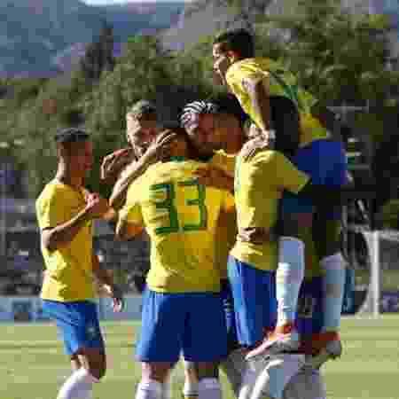 Brasil comemora vitória no Torneio de Toulon - Divulgação