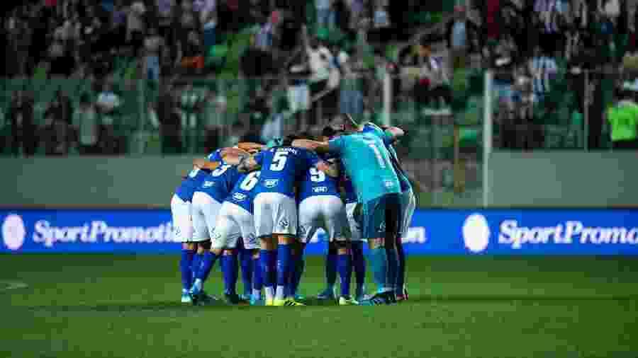 Jogadores do Cruzeiro reunidos em partida no Independência - Bruno Haddad/Cruzeiro