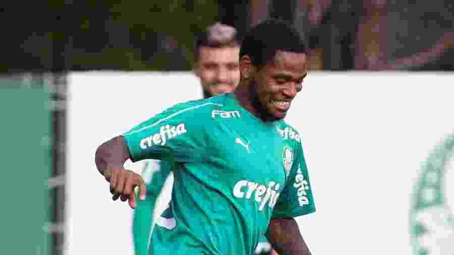 Atacante começou a treinar com o grupo na tarde de ontem e está liberado para jogar - Cesar Greco/Palmeiras