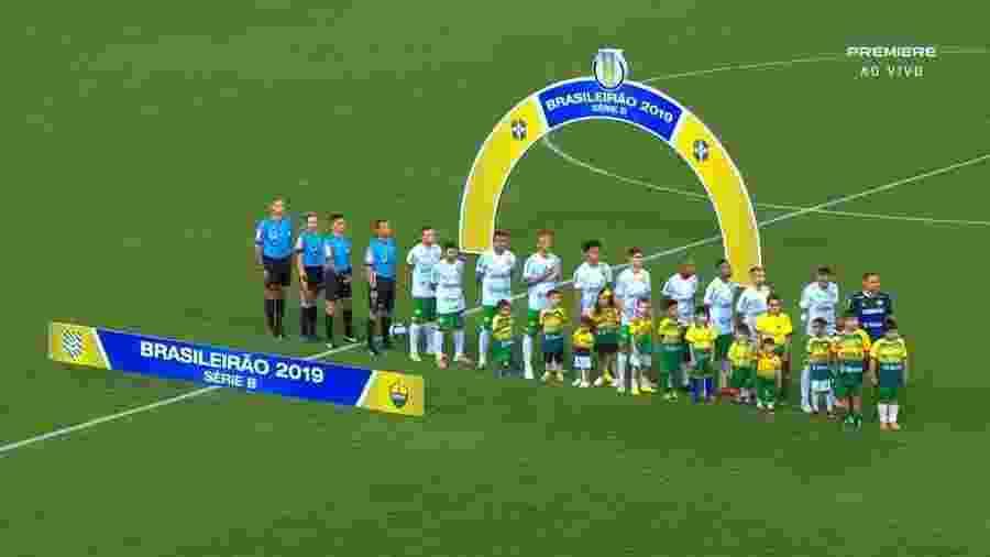 Salários atrasados fizeram os jogadores não entrarem em campo contra o Cuiabá - Reprodução