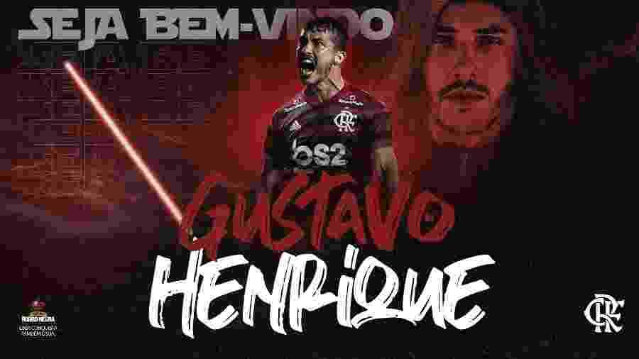 Flamengo anuncia zagueiro Gustavo Henrique - Reprodução Twitter