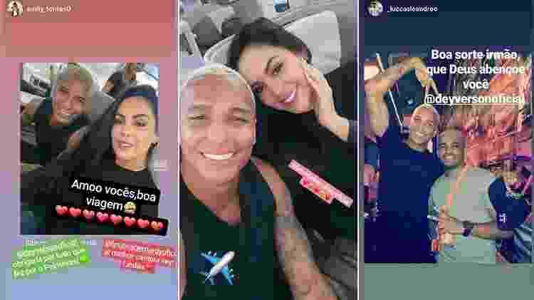 Deyverson mostrou mensagens de fãs e amigos e foto em avião ao lado da namorada - Reprodução/Instagram