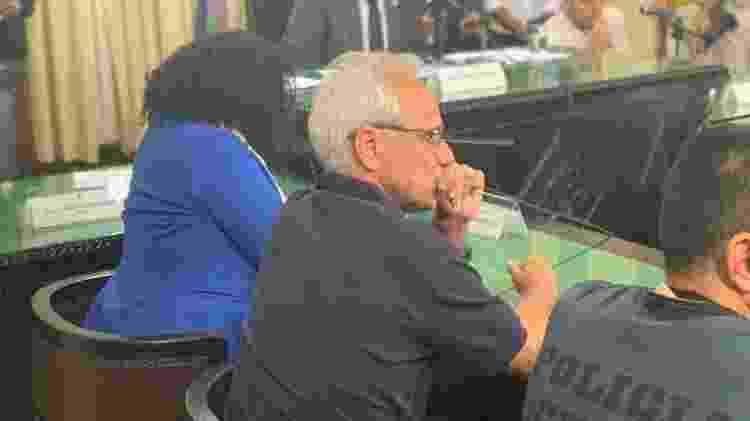 Reinaldo Belotti, CEO do Flamengo, em sessão da CPI que apura incêndio do Ninho - Leo Burlá/UOL - Leo Burlá/UOL