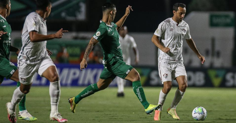 Nenê, do Fluminense, na partida contra o Goiás pelo Campeonato Brasileiro