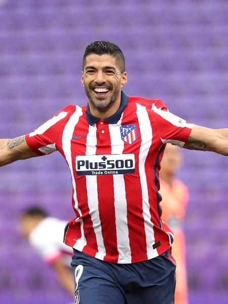 Suárez comemora gol marcado pelo Atlético de Madri sobre o Valladolid - Angel Martinez/Getty Images