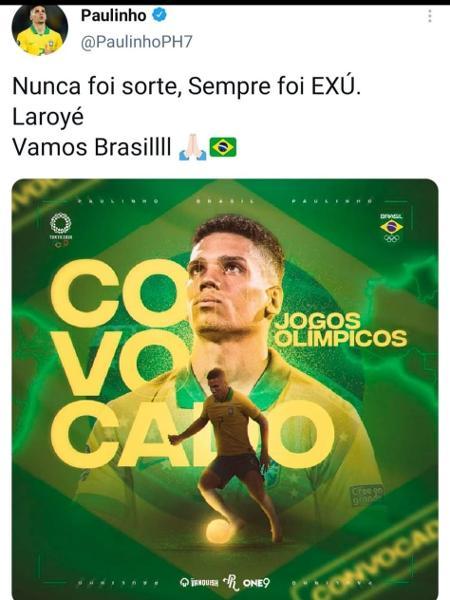 Twitter Paulinho - Reprodução