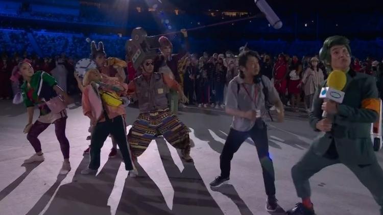 Cena humorística protagonizada na abertura dos Jogos Olímpicos foi criticada por Marcos Uchôa - Reprodução/TV Globo - Reprodução/TV Globo