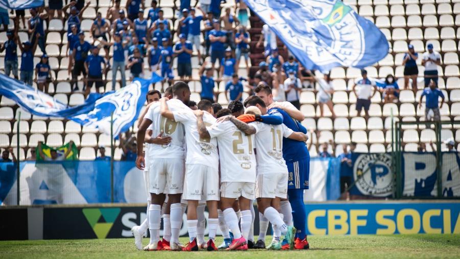 Em carta publicada por Fábio, atletas prometeram paralisar atividades no CT da Raposa por falta de pagamento de salários - Bruno Haddad/Cruzeiro
