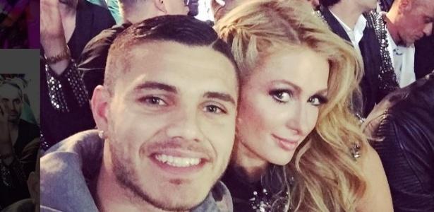 De férias nos Estados Unidos, Mauro Icardi colocou foto no Instagram ao lado de Paris Hilton