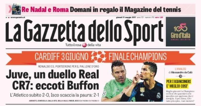 La Gazzetta dello Sport repercute Atlético de Madri x Real