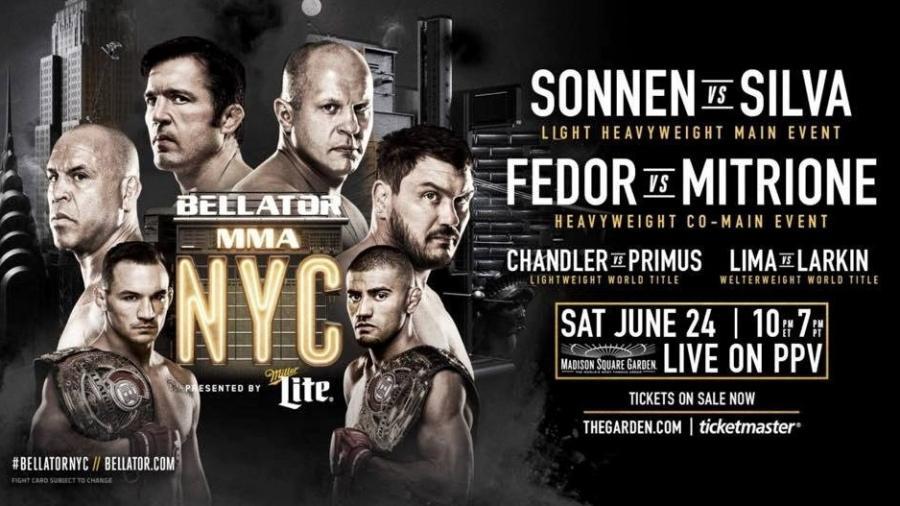Bellator 180 não será apenas um evento dos medalhões em Nova York - Reprodução/Bellator