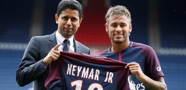 Neymar tem contrato até 2022 com o time presidido por Nasser Al Khelaifi