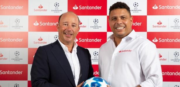 Ronaldo foi escolhido como embaixador do banco Santander no futebol - Divulgação/Santander