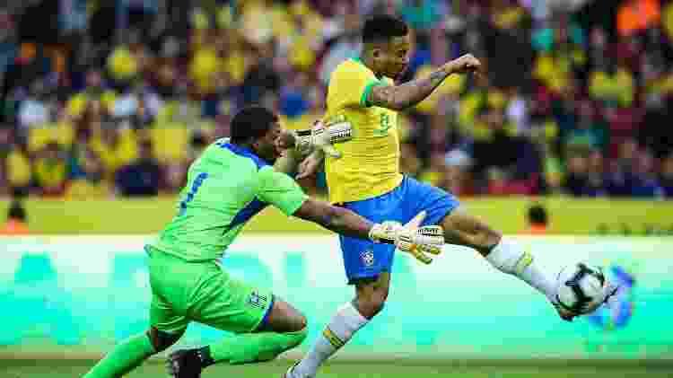 Gabriel Jesus faz gol Brasil x Honduras - Pedro H. Tesch/AGIF - Pedro H. Tesch/AGIF
