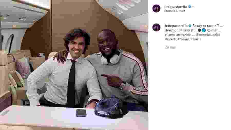 Lukaku viaja com empresário para fechar com a Inter de Milão - Reprodução/Instagram