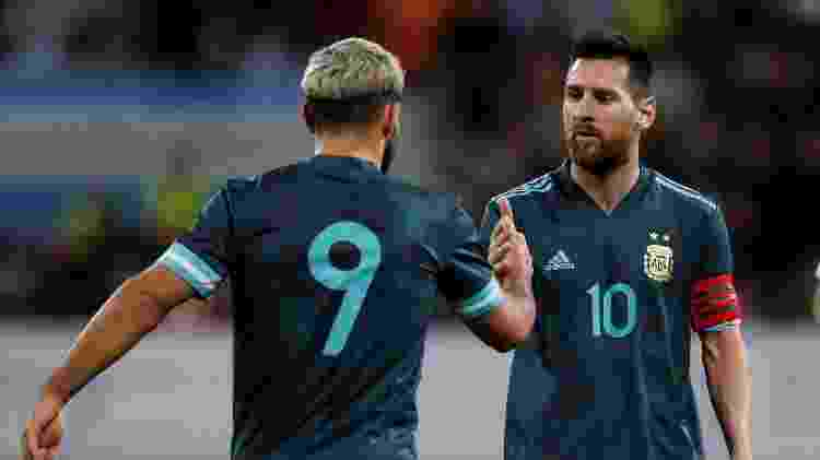 Aguero and Messi were the players who secured a draw for Argentina - AMMAR AWAD / AFP