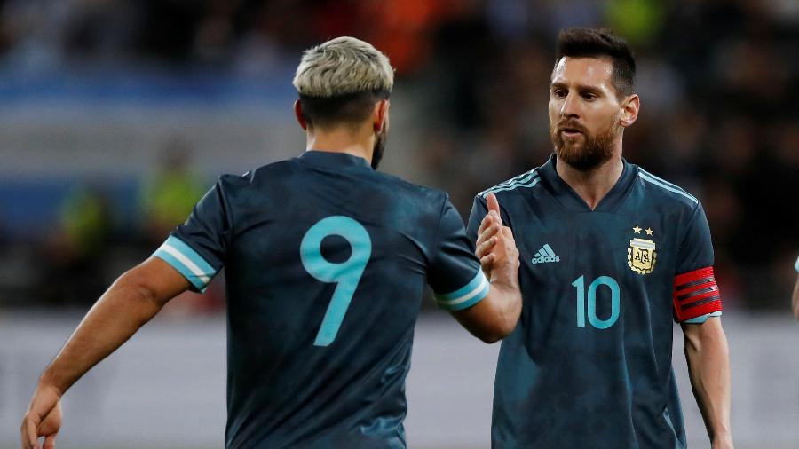 Aguero e Messi atuando pela Argentina - AMMAR AWAD/AFP