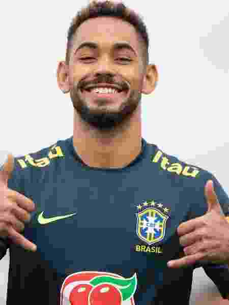 Matheus Cunha brinca durante treino da seleção brasileira sub-23 na Colômbia - Lucas Figueiredo/CBF - Lucas Figueiredo/CBF