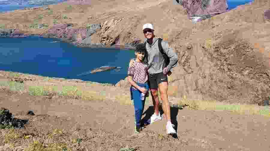 Cristiano Ronaldo passeia com o filho pela Ilha da Madeira - Reprodução/Instagram