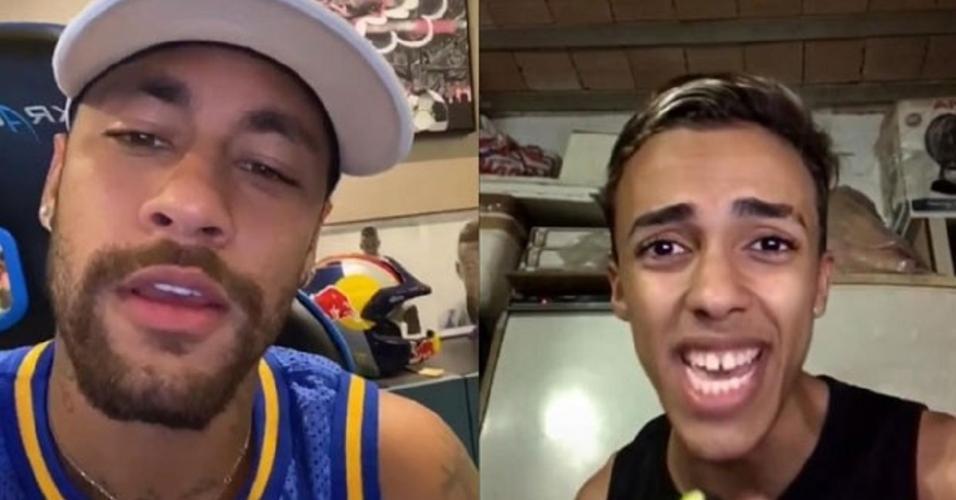 Neymar e Edivando Junior