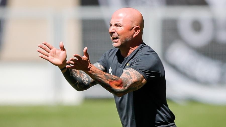 Jorge Sampaoli comandou o Atlético por menos de um ano, e ficou no clube entre março de 2020 até fevereiro de 2021 - Bruno Cantini/Divulgação/Atlético-MG