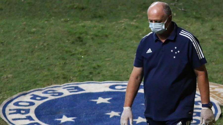 Luiz Felipe Scolari tem se incomodado com realidade do Cruzeiro e estuda deixar o clube após a série B 2020 - Fernando Moreno/AGIF
