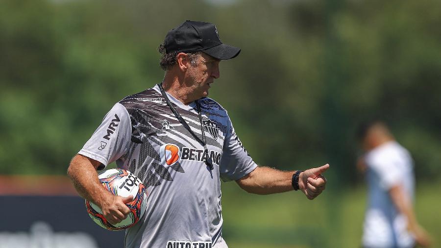 Técnico do Atlético-MG agora admite que primeiro volante precisa saber jogar e não ser exímio marcador - Pedro Souza/Atlético-MG