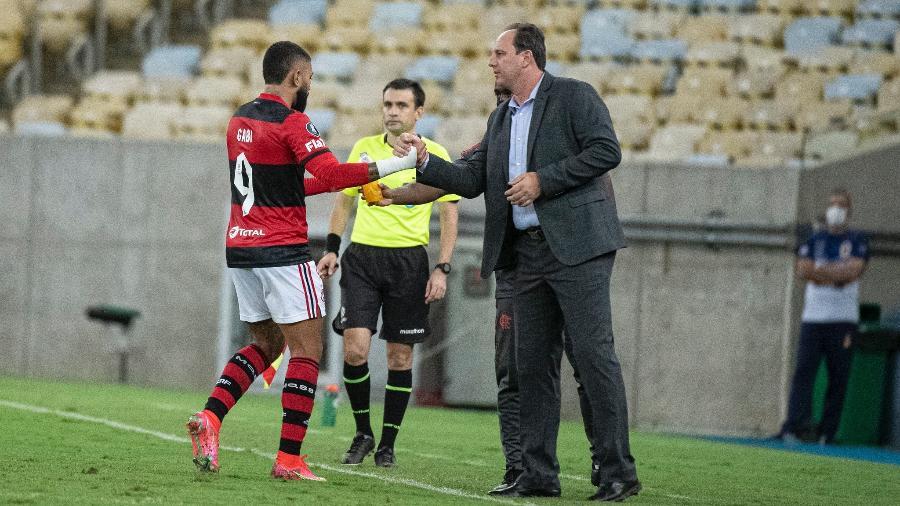 Flamengo de Gabigol e Rogério Ceni encara a LDU, hoje, fora de casa - Alexandre Vidal / Flamengo