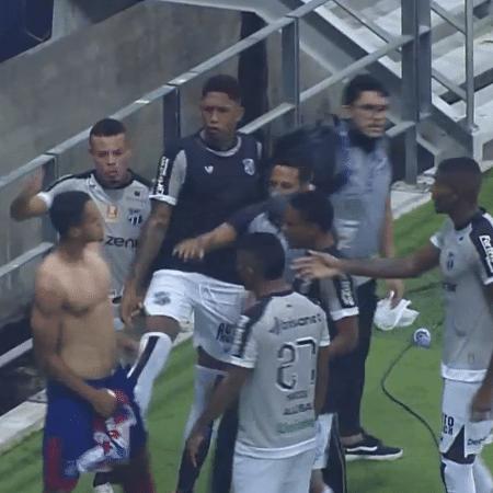 Confusão começou após o título do Bahia diante do Ceará - Reprodução/Nordeste FC