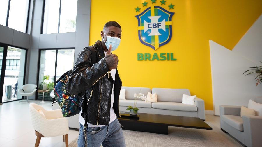 Lateral-direito Emerson foi convocado por Tite após corte de Daniel Alves - Lucas Figueiredo/CBF