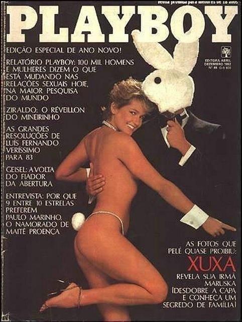 Xuxa Meneghel foi uma das primeiras mulheres relacionadas ao esporte a posar para a revista, em dezembro de 1982. Na época, a loira era conhecida pelo relacionamento com Pelé