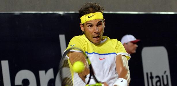 Rafael Nadal na partida contra Pablo Cuevas pela semi do Aberto do Rio - Deco Pires/Fotojump
