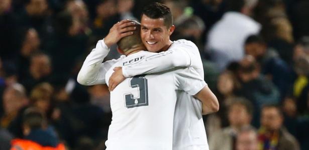 Cristiano Ronaldo e Pepe pelo Real Madrid