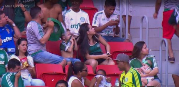 Confusão entre palmeirenses e flamenguistas atrapalhou a partida
