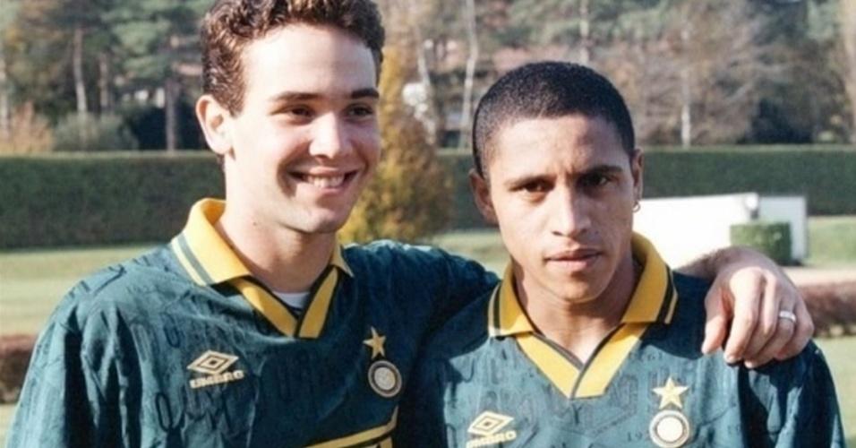Caio Ribeiro e Roberto Carlos foram companheiros na Internazionale de Milão