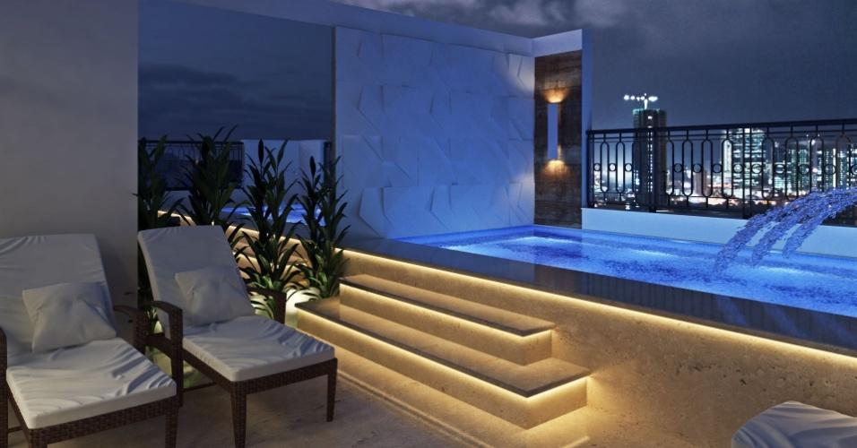 Área de lazer da casa com direito a piscina