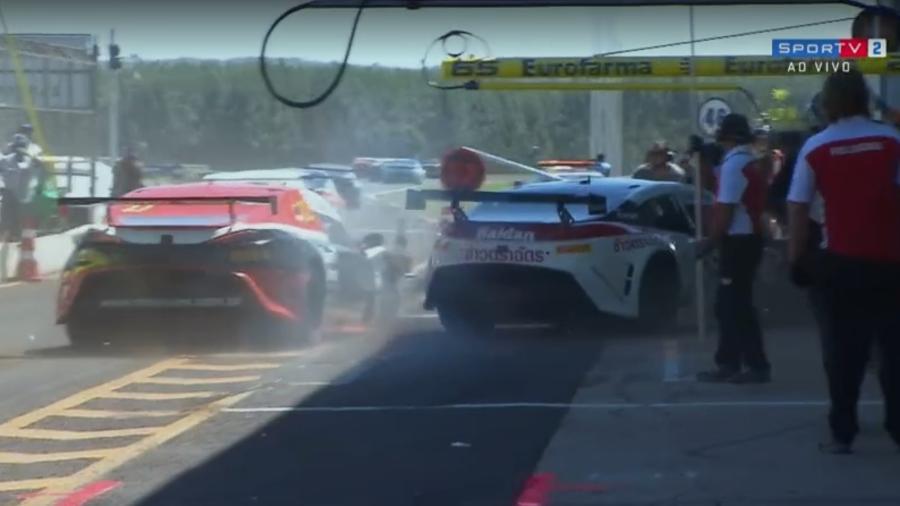 Atropelamento na Stock Car Light - Reprodução/Sportv