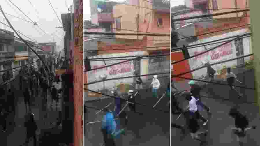 Briga de torcedores de Corinthians e São Paulo em Ferraz de Vasconcelos - Reprodução
