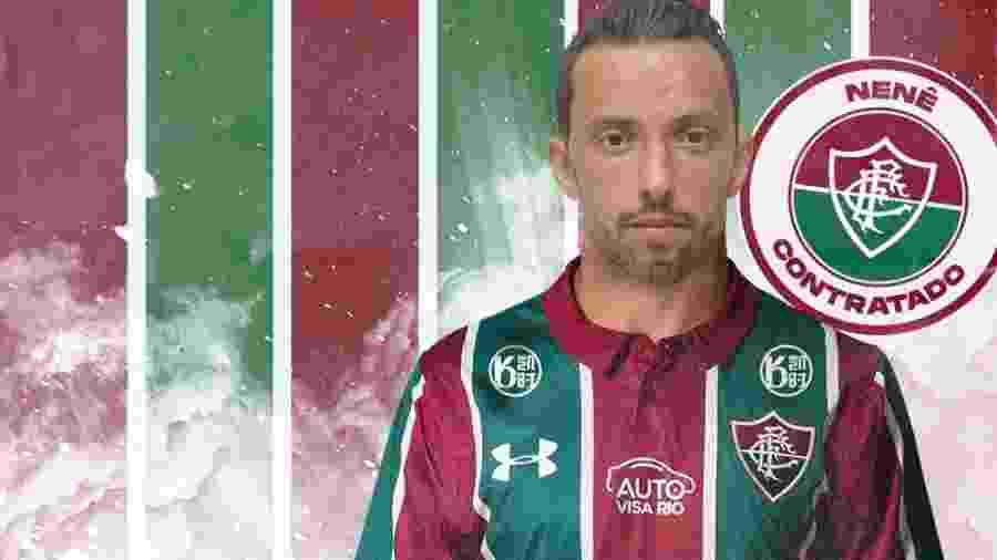 Nenê foi anunciado como novo reforço do Fluminense - Reprodução / site Fluminense