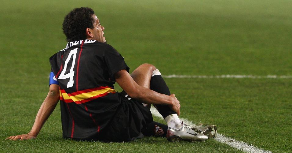 Daniel Alves, durante partida pelo Sevilla em 2008