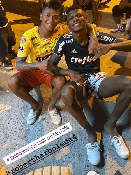Arboleda em foto com a camisa do Palmeiras - Reprodução - Reprodução