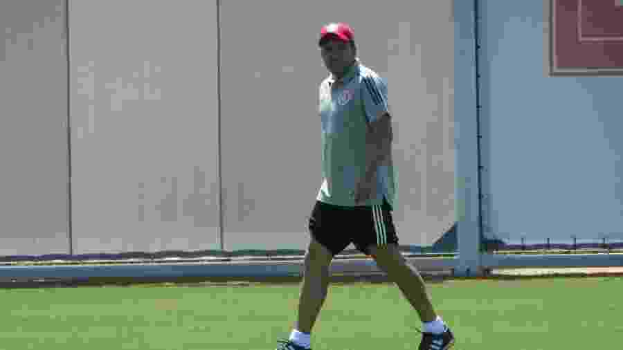 Eduardo Coudet comandou primeiro treinamento no Internacional hoje no CT do clube - Marinho Saldanha/UOL