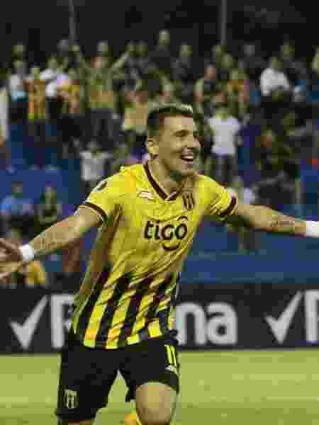 Benítez comemora gol do Guaraní contra o San José - Divulgação/Guaraní